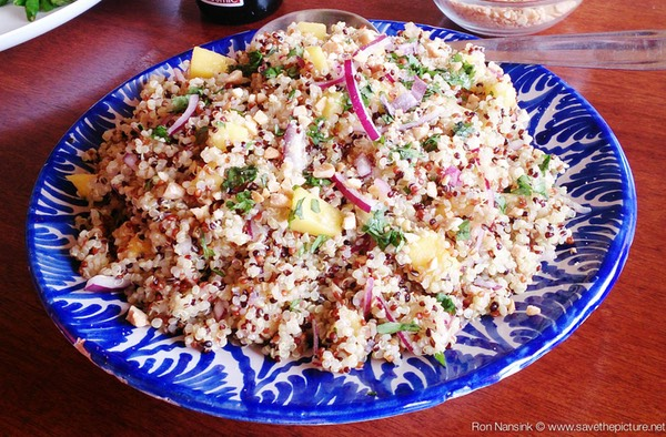 TheFeel foodies by Nadja Kotrchova quinoa salad lunch at Afke's yoga retreat