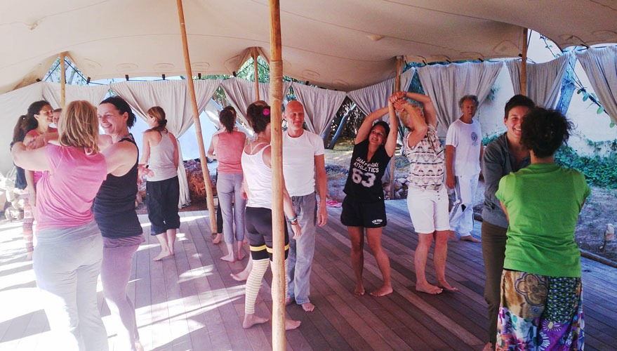 TheFeel group Natural Tuning intermezzo at-Afkes magic Yoga retreat Ibiza