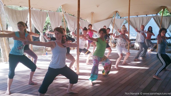 TheFeel ZenmaX energizing qigong intermezzo at Afkes magic Yoga retreat