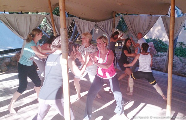 TheFeel ZenmaX energizing intermezzo at Afkes magic Yoga retreat 2